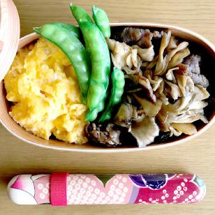 舞茸と牛肉生姜焼き弁当
